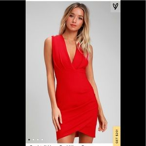 Lulu's Red Cocktail Dress